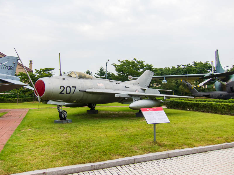 Korea-Seoul-Military-Musuem-Memorial - This is a mig 19, the actual plane was flown into South Korea by a defecting North Korean pilot.