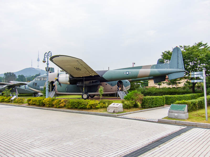 Korea-Seoul-Military-Musuem-Memorial - A twin tailed transport plane.