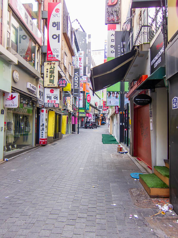 Korea-Seoul-Zoo - The abandoned streets of Myeong-Dong.