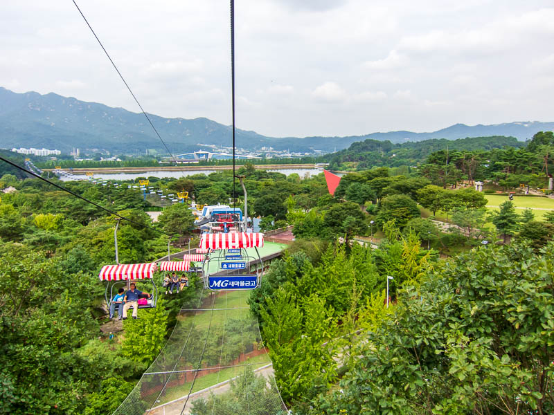Korea-Seoul-Zoo - Last shot from the cable car, ride lasts for maybe 15 minutes.
