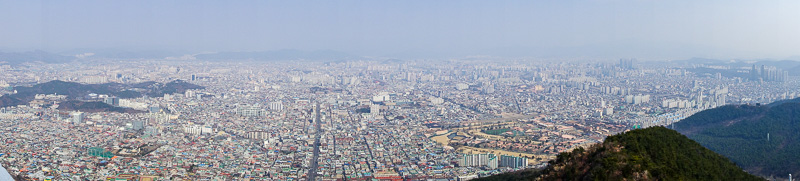 Korea-Daegu-Hiking-Apsan - Todays panorama. I found the view to be particularly impressive.