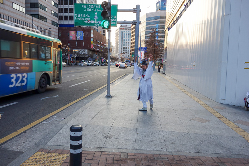 Korea-Daegu-Monorail - Korean white wizard guy is succesfully performing the most feminine dance I have ever witnessed.
