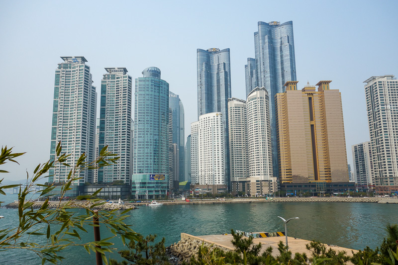 Korea-Busan-Beach-Haeundae - Now we start getting into Donald Trump Town.