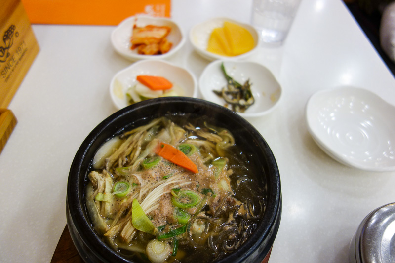 Korea-Bupyeong-Food-Dumplings - Luckily I headed down a laneway, and found a place with pictures. The first dish was a beef soup. It looked like beef anyway, in reality I had no idea