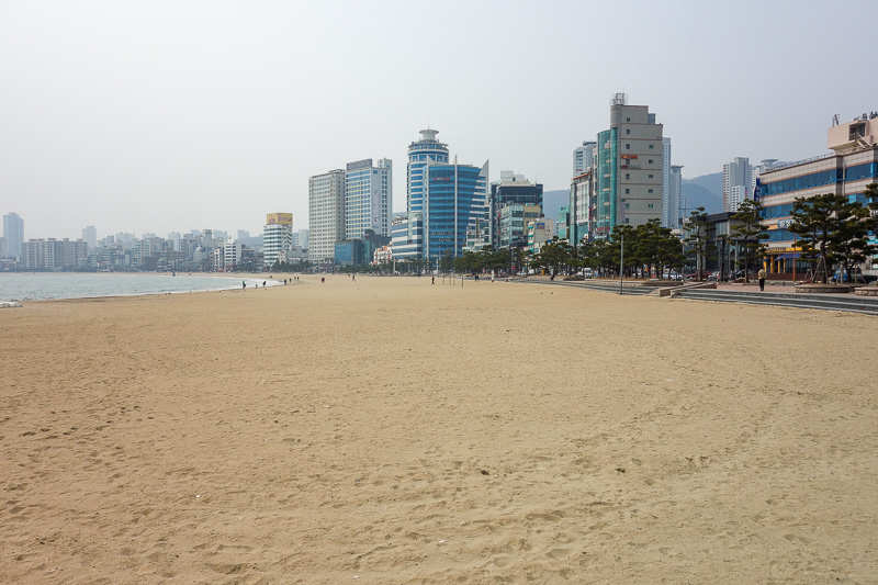 Korea-Busan-Beach-Haeundae - And now here we are at the other beach.
