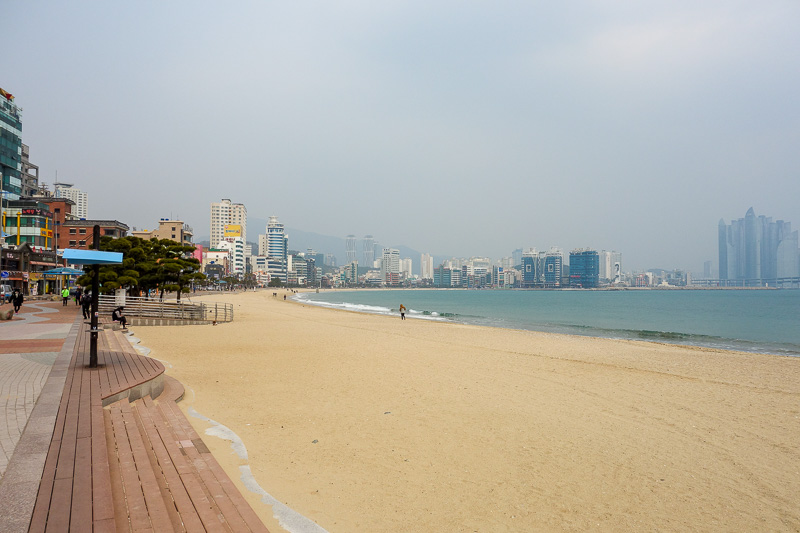 Korea-Busan-Beach-Haeundae - Final photo from today, thats future city on the right edge, which was about the half way point of my walk. I think today was only about a 5 hour walk