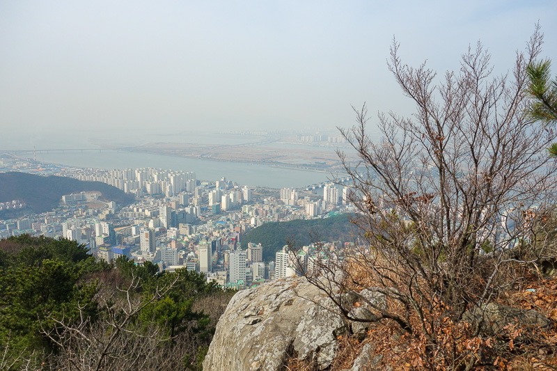 Korea-Busan-Hiking-Gudeoksan - And still getting higher. Looking west towards the area known as Gimpo.