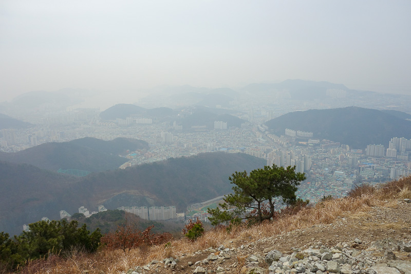 Korea-Busan-Hiking-Gudeoksan - Summit number 1 today.