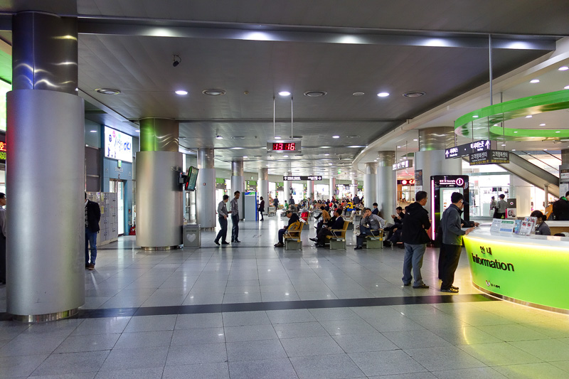 Korea-Busan-Gwangju-Bus - The Gwangju bus station is huge, and very modern. They only have one. Too bad they have placed it nowhere near anything useful, like the subway. There