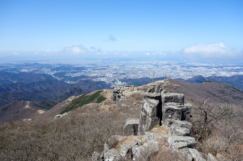 Korea-Gwangju-Hiking-Mudeungsan - As high as I could go.