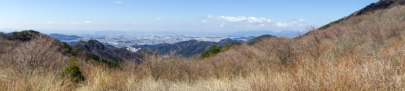 Korea-Gwangju-Hiking-Mudeungsan - So clear, a record 4th panorama!