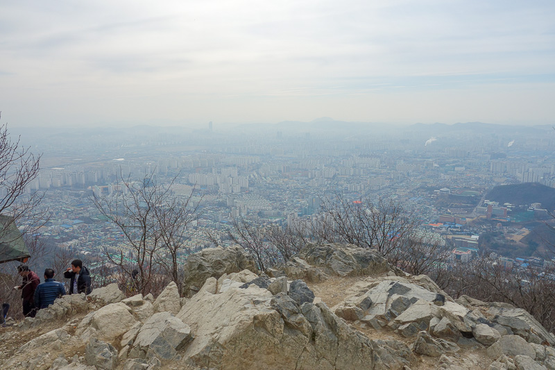Korea-Incheon-Songdo-Hiking-Gaesan - And now, the view from the top. Mr Song was super excited to see me.
