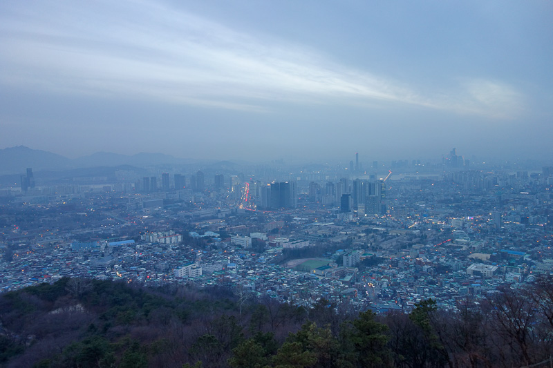 Korea-Seoul-Tower-Food-Pancake - Tourists everywhere