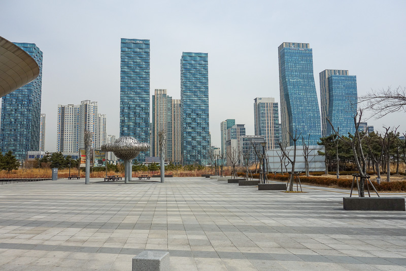 Korea-Incheon-Songdo-Hiking-Gaesan - Part of Songdo special region for the economic ecology of glorious Korea.