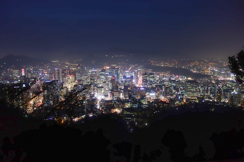 Korea-Seoul-Tower-Food-Pancake - Night view from the top. I think night view from half way down is better, stay tuned.
