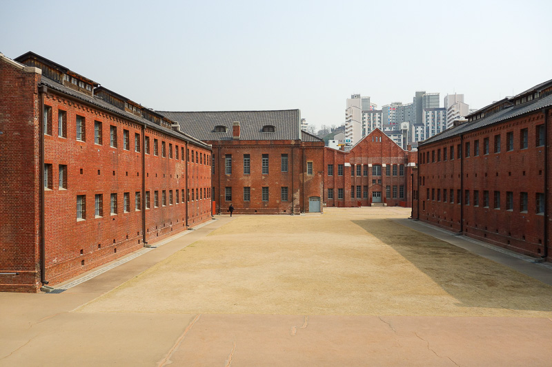 Korea-Seoul-Seodaemun Prison-Nakwon Arcade - Nice brick buildings, there were areas they would not let you photograph too, and they were serious about it. Especially the mass hanging room, inside