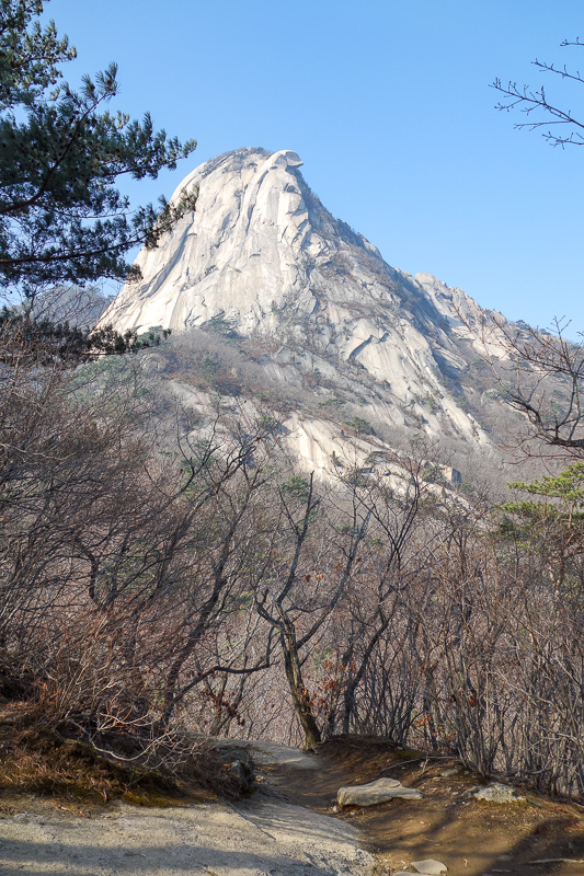 Korea-Seoul-Hiking-Bukhansan-Baegundae - I am already most of the way there, but this rock is my mountain for today. I picked a non direct path to avoid the crowds. This is not a park to go t