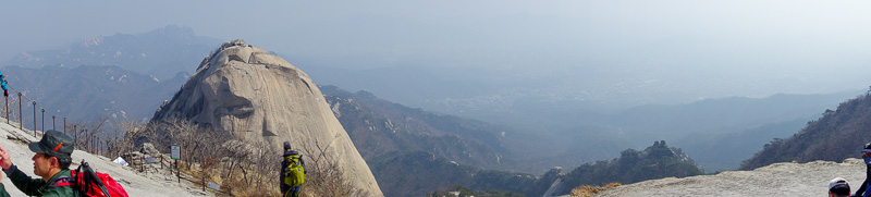 Korea-Seoul-Hiking-Bukhansan-Baegundae - Todays panorama. Probably redundant, but here it is.