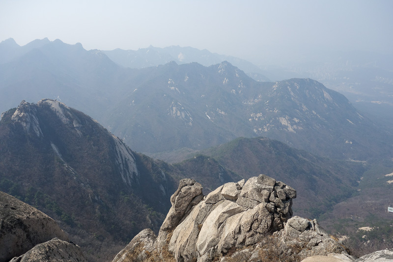 Korea-Seoul-Hiking-Bukhansan-Baegundae - Nice view further away from Seoul.