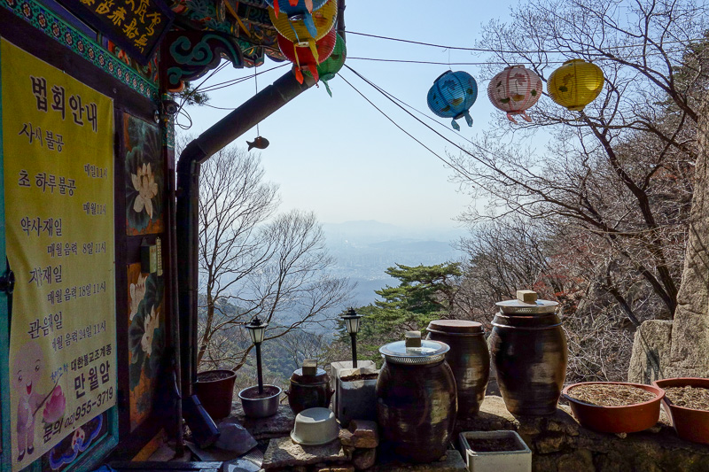 Korea-Seoul-Hiking-Bukhansan-Dobongsan - This is pretty much the entire temple. A lady stuck her head out the sliding door and looked angry, so I moved on. Behind here was where a ranger caug