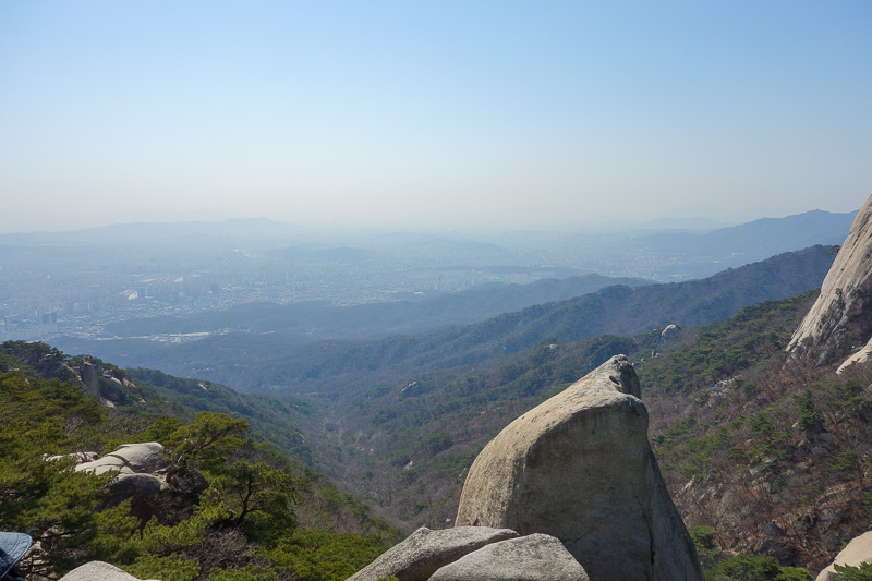Korea-Seoul-Hiking-Bukhansan-Dobongsan - View from peak 1.