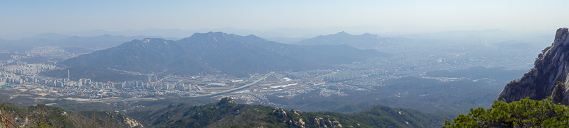 Korea-Seoul-Hiking-Bukhansan-Dobongsan - Todays one and only panorama. Probably the last of my trip.