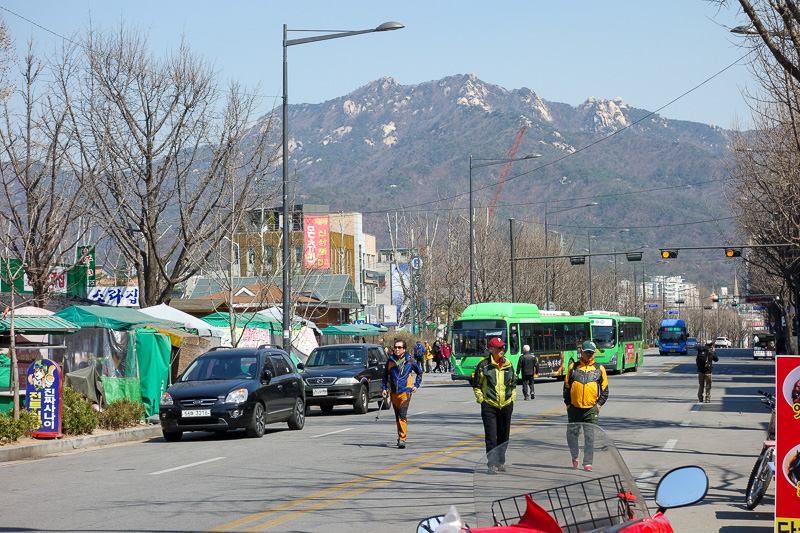 Korea-Seoul-Hiking-Bukhansan-Dobongsan - I am fairly certain as I walked back to the subway that I was looking at the mountain from 2 days ago. But I cant be 100% sure. Might have to come bac