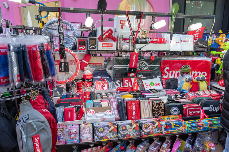 Korea-Seoul-Curry - There is only one fashion brand in Korea now, Supreme. It is Supreme or nothing. Samsung actually did a deal with what was labeled a fake 'Supreme' wh