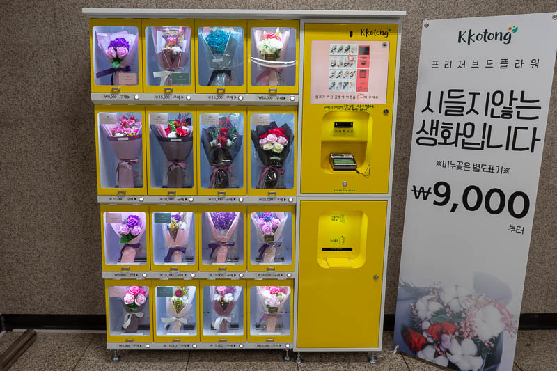 Korea-Daejeon-Pancakes - Korea does not have the same level of vending machines as Japan, sure there are drink machines everywhere, but one thing they have a stupidly large am