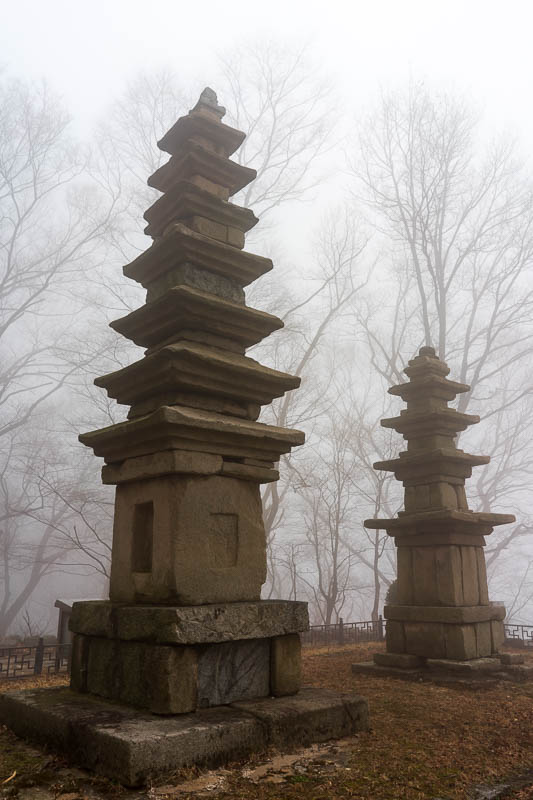 Korea-Hiking-Gyeryongsan - Here are some pagodas, they have real historical significance. Trust me.
