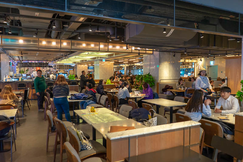 Korea-Seoul-Shopping - After exiting Hyundai world, I found a fancy food court area back in the mall. If its still raining tomorrow, I can come back here, hang out in the fo