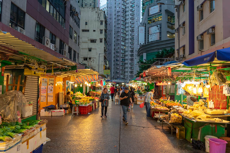 Hong Kong-Mong Kok - Another market, I like the markets, they make for good photos.