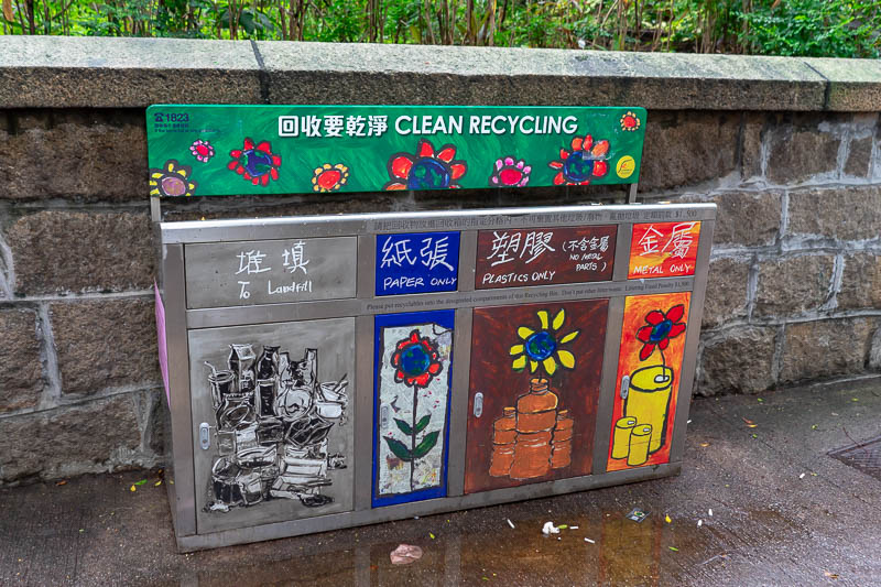 Hong Kong-Kowloon - I did a bit of work first up, audited the performance of the segregation at source of waste in Hong Kong. Astute observers will know that Hong Kong is