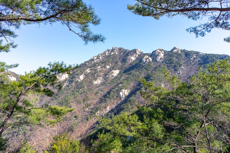 Korea-Hiking-Suraksan - I think I went all the way around to that peak. It was not really very far but lots of it was quite technical with ropes and chains. I never felt the