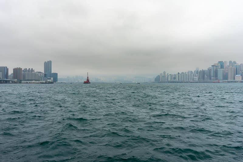 Hong Kong-Kowloon - It was about to pour with rain. Eventually it did, but it took a lot longer to arrive than I thought.