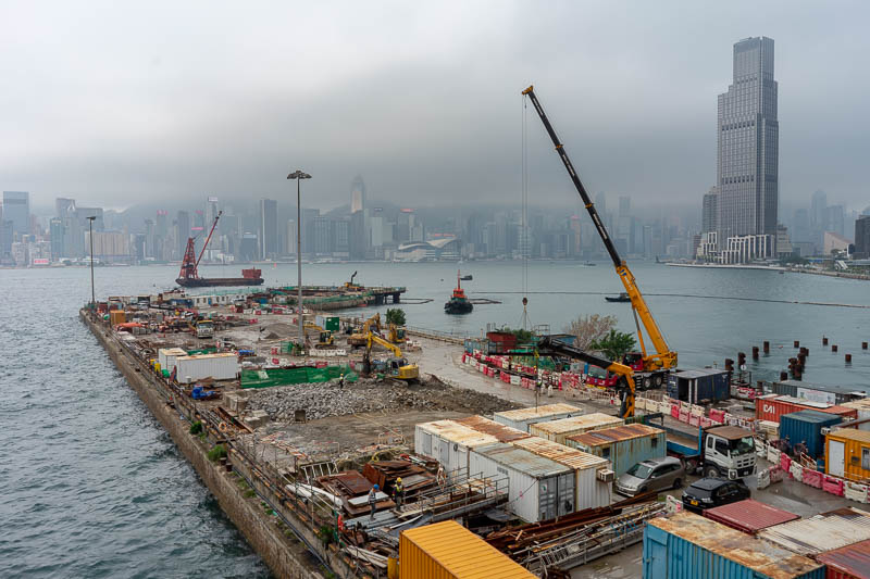 Hong Kong-Kowloon - I think they are actually demolishing this rather than extending further into the sea.