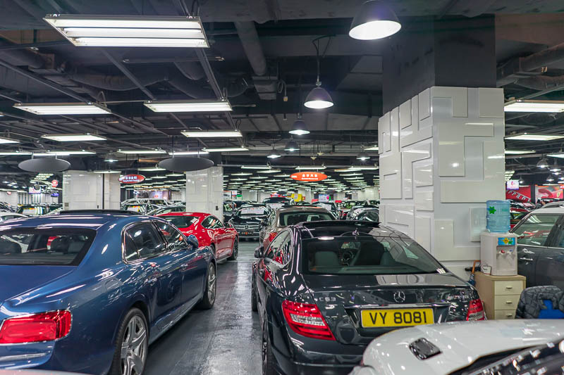 Hong Kong-Kowloon - Then things got even weirder. Basement 3 is a huge car yard. Lots of different dealers. Lots of supercars. I fled pretty quickly as there were some sh