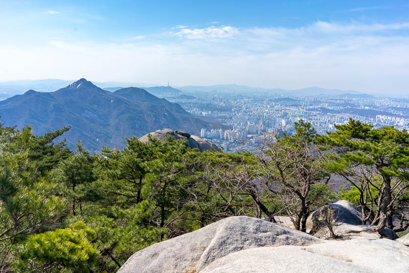 Korea-Hiking-Suraksan - There is Seoul. A bit of it anyway. Over 20 million people live in the greater metro area.