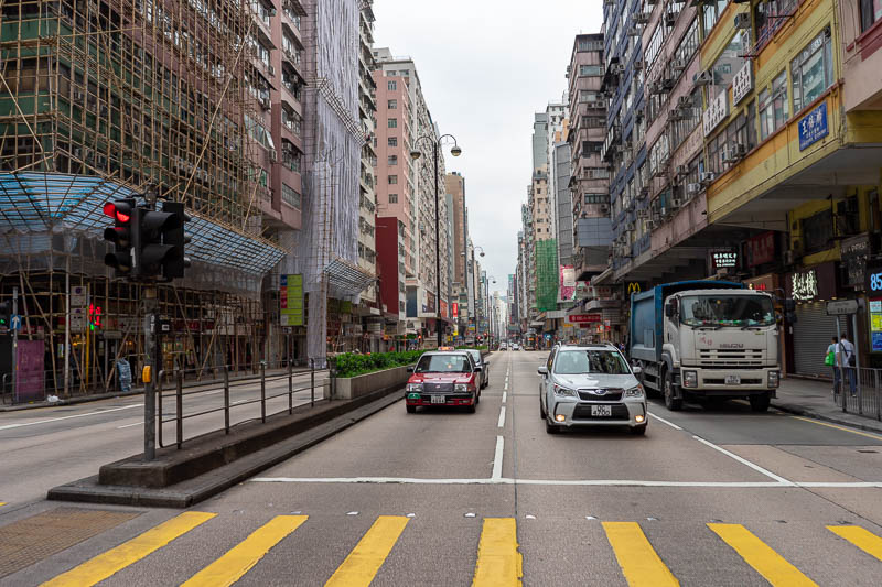 Hong Kong-Hiking-Lion Rock - Here is Nathan road out the front of my hotel. Note the surprising lack of rain.