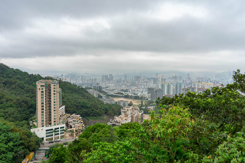 Hong Kong-Hiking-Lion Rock - Before very long at all I got enough height to start appreciating the excellent, but hazey view.