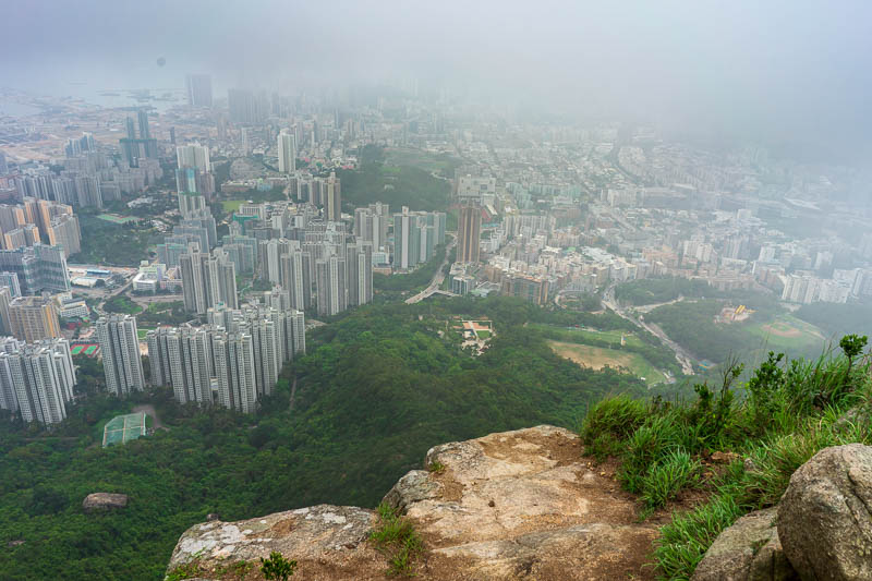 Hong Kong-Hiking-Lion Rock - There really are steep cliffs to fall off if that is your thing.