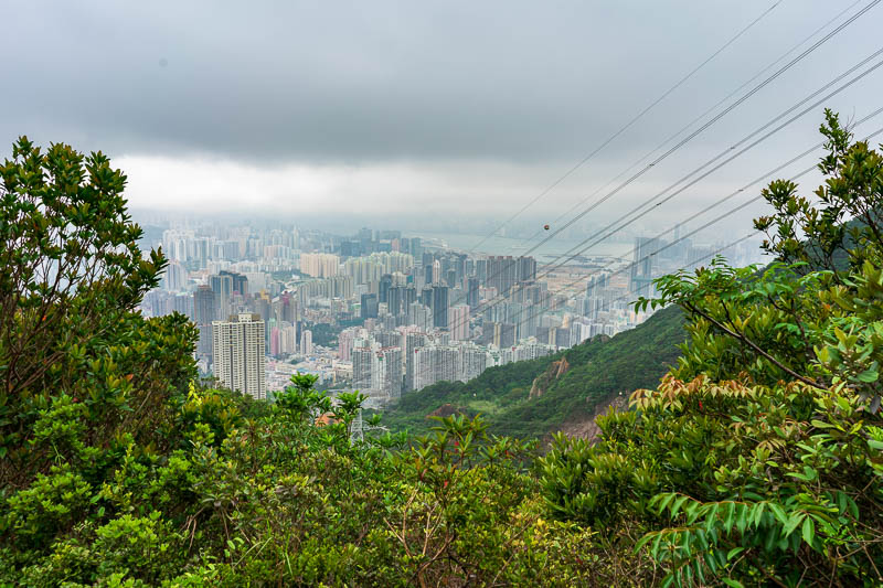 Hong Kong-Hiking-Lion Rock - About halfway down, by this point the path became a solid marble stair case.
