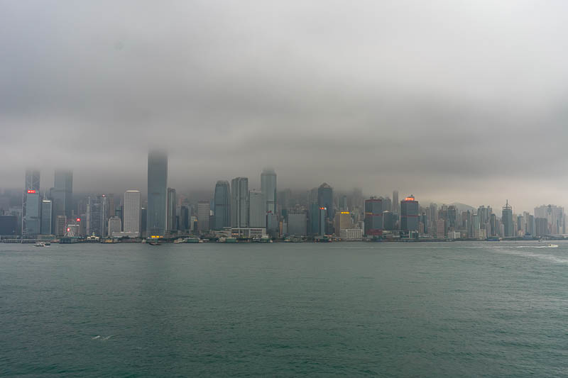 Hong Kong-Kowloon-Rain - Like I said, great view from the top of the ferry terminal.