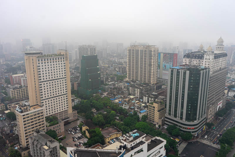 China-Hong Kong-Guangzhou-Train - Here is my 'view'. My view is all fog. The rain seems particularly heavy right now. Now to work out where the hell I am.