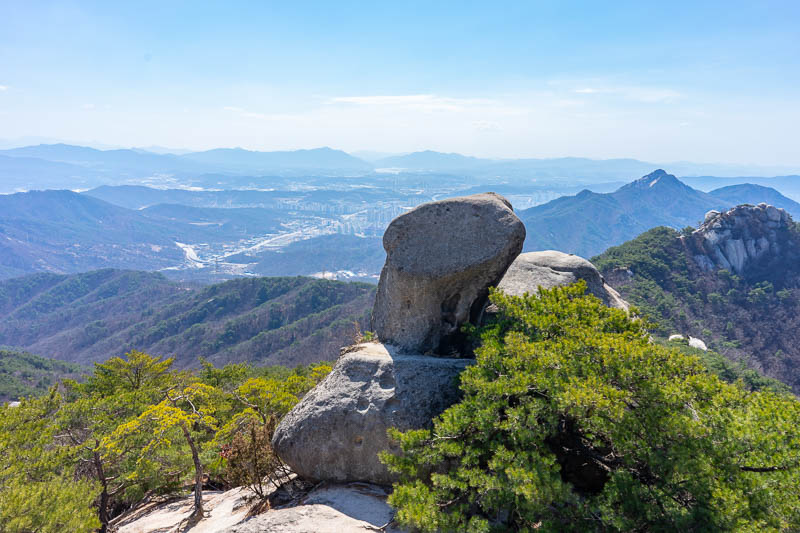 Korea-Hiking-Suraksan - This side has some rocks and green and blue of its own. Just like the other side!