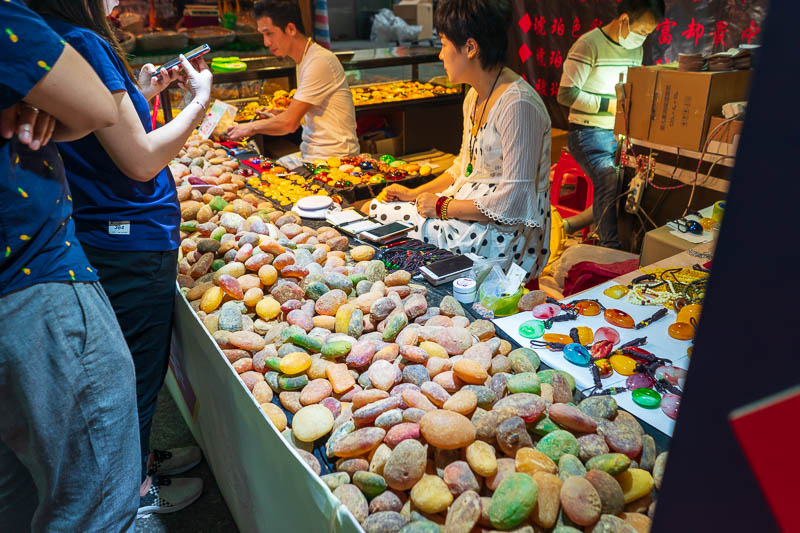 China-Guangzhou-Pasta - These rocks look like jubes. Which are those sugar colored lollies only these rocks are a lot bigger, unless you know of fist sized jubes in which cas
