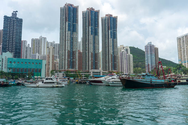 Hong Kong-Hiking-Aberdeen - Now for some photos of Aberdeen port. They call it a typhoon shelter, for boats.