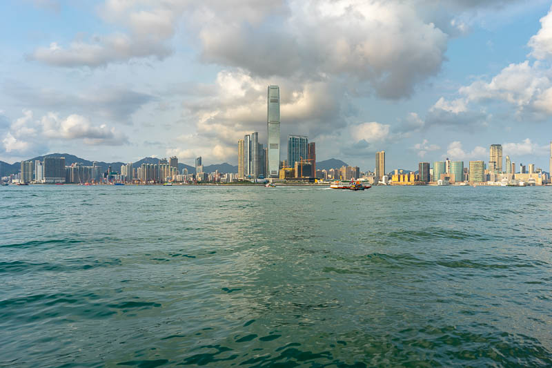 Hong Kong-Central-Architecture - There is Kowloon as seen from Hong Kong. Kowloon is part of Hong Kong, its where I was last week, but it is physically attached to the mainland. It is
