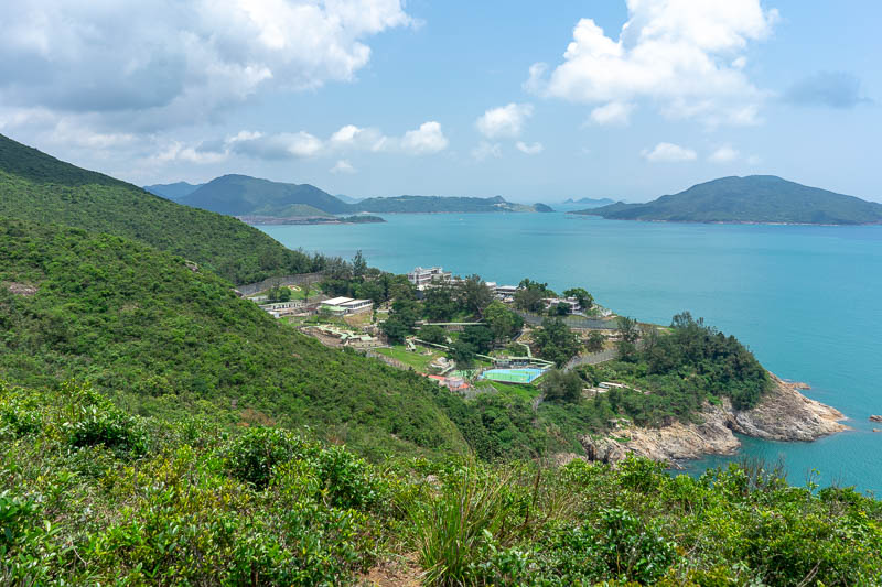 Hong Kong-Hiking-Dragons back - OK, so where I was must be quite secluded. That is the Hong Kong maximum security prison. Luckily I brought my tennis racquet and some balls filled wi