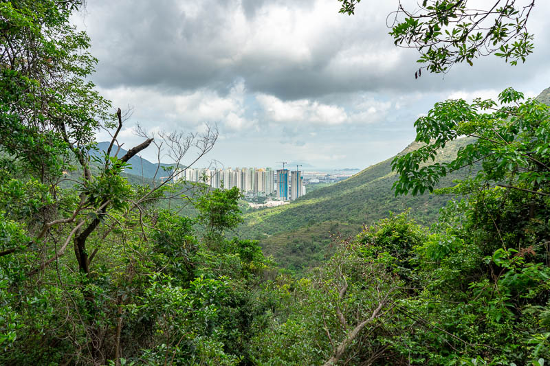 Hong Kong-Hiking-Sunset Peak - I had already hiked some distance away from Tung Chung.